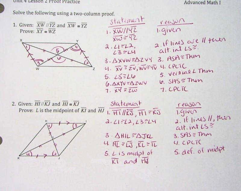 Triangle Proofs Worksheet Answers Elegant Triangle Proofs Worksheet