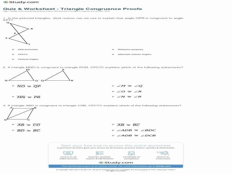 Triangle Proofs Worksheet Answers Fresh Triangle Proofs Worksheet
