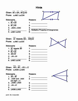 Triangle Proofs Worksheet Answers Unique Congruent Triangles Proofs Cut and Paste Activity by Mrs E
