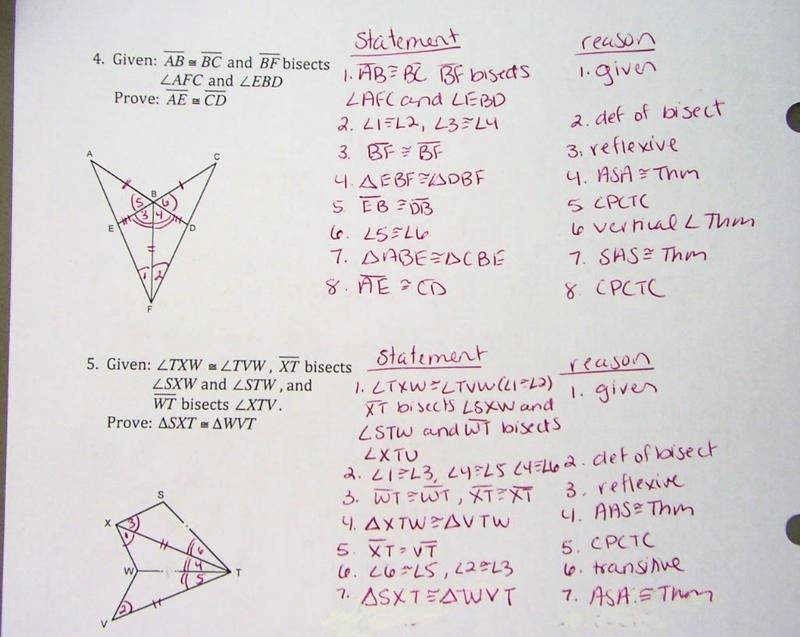 Triangle Proofs Worksheet Answers Unique Triangle Congruence Proofs Worksheet