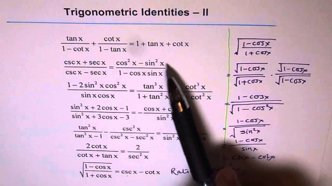 Trig Identities Worksheet with Answers Beautiful Trigonometric Identities Worksheet 2