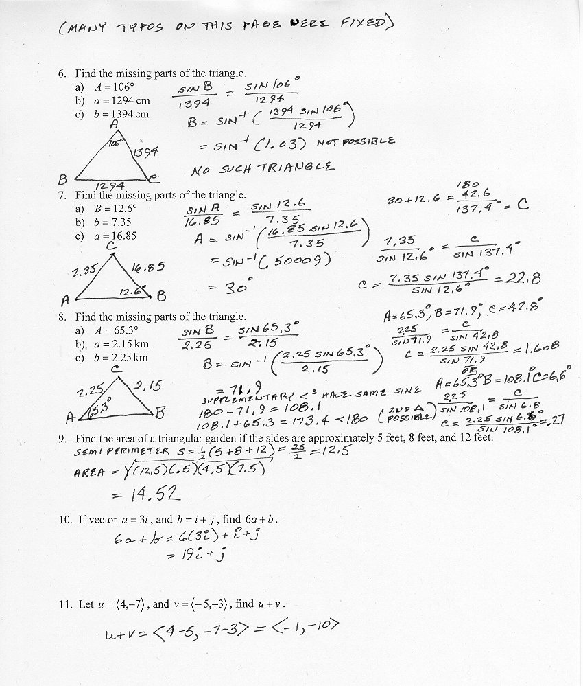 Trig Identities Worksheet with Answers Fresh Wilson Susan Whats Going On In Honors Precalculus Chapter