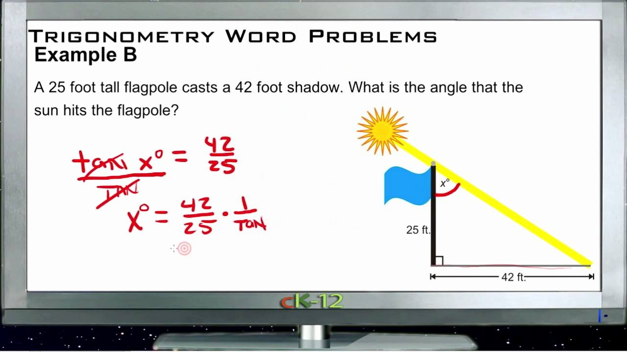 Trig Word Problems Worksheet Answers Fresh Trigonometry Word Problems Examples Basic Geometry