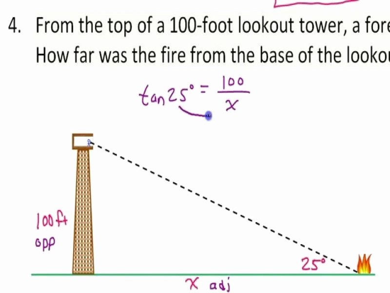 Trig Word Problems Worksheet Answers Lovely Trigonometry Word Problems Worksheets with Answers Free