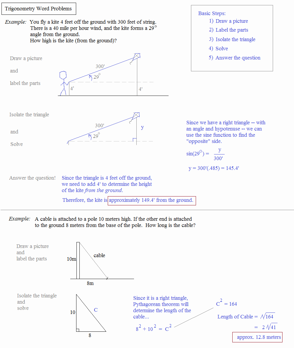 Trig Word Problems Worksheet Answers Unique Law Sines and Cosines Worksheet Word Problems