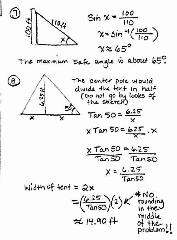 Trig Word Problems Worksheet Elegant Trig Word Problems Worksheet