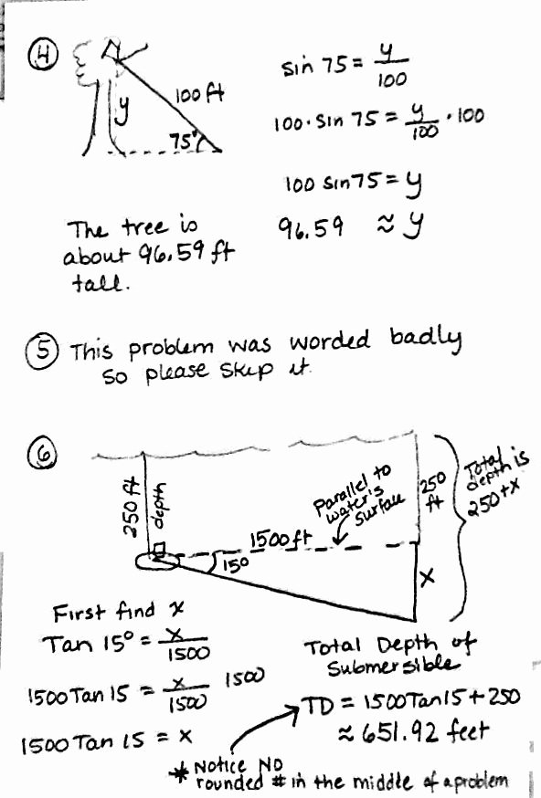 Trig Word Problems Worksheet Lovely 18 Best Of Trigonometry Worksheets and Answers Pdf