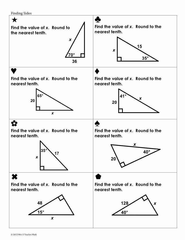Trigonometric Ratios Worksheet Answers Awesome Trigonometric Ratios Worksheet