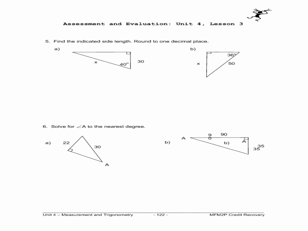 Trigonometric Ratios Worksheet Answers Fresh Primary Trig Ratios Worksheet for 9th 12th Grade