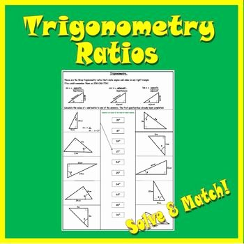 Trigonometric Ratios Worksheet Answers Inspirational Right Triangle Trigonometry Worksheet soh Cah toa by 123