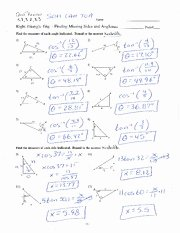 Trigonometric Ratios Worksheet Answers Inspirational Trig Ratios with Answers Name Date Class Practice B 3 2