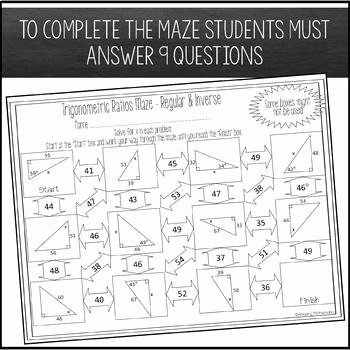 Trigonometric Ratios Worksheet Answers Lovely Trigonometric Ratios Sine Cosine & Tangent Maze