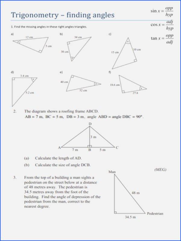 Trigonometric Ratios Worksheet Answers Lovely Trigonometric Ratios Worksheet Answers