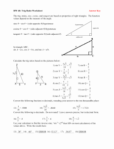 Trigonometric Ratios Worksheet Answers Unique Trig Cheat Sheet Page 2