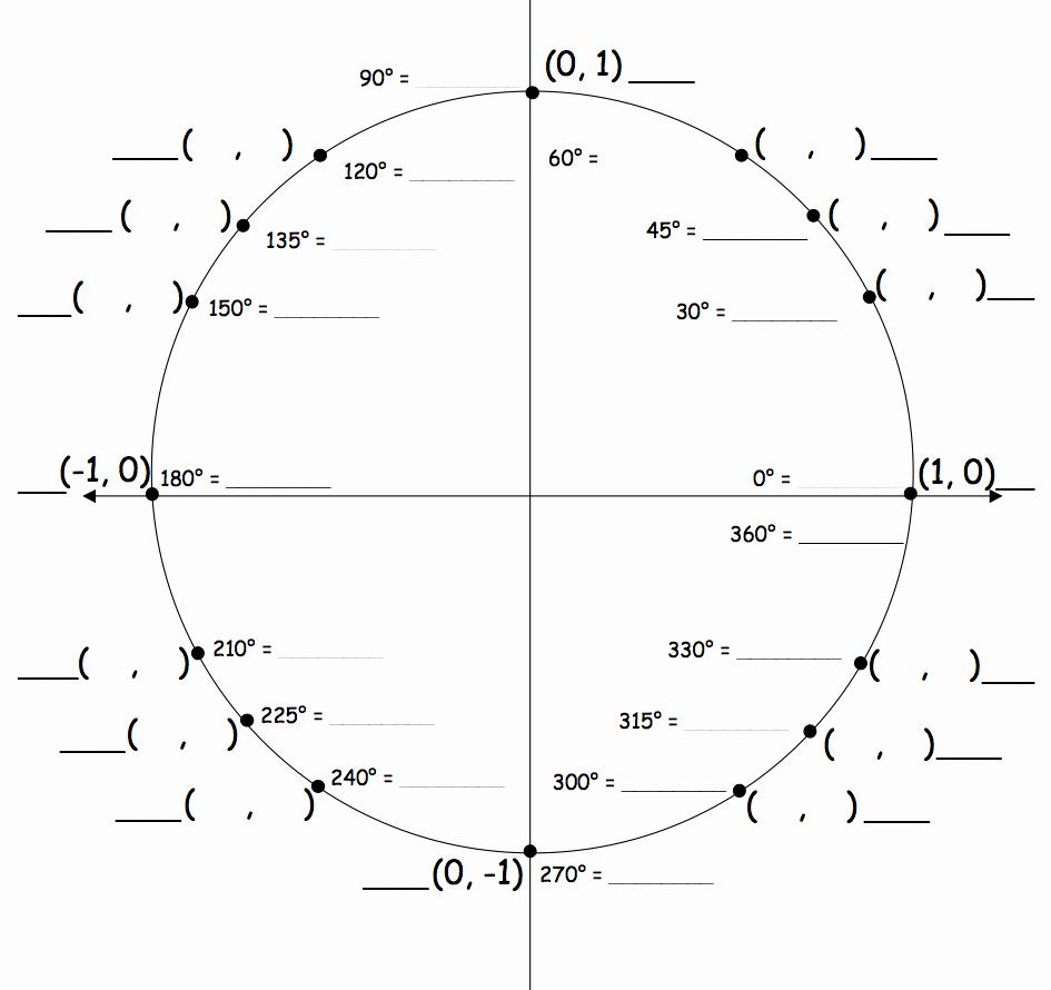 Trigonometry Unit Circle Worksheet Answers Elegant Sine Cosine Tangent Worksheet Unit Circle