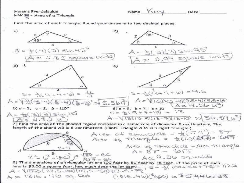 trig worksheets