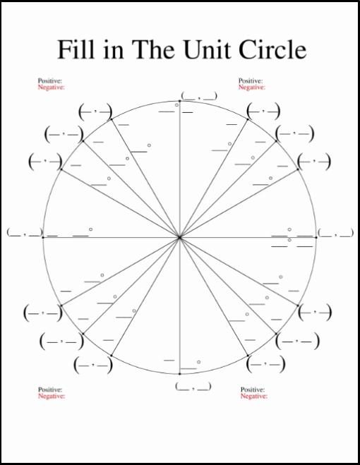 Trigonometry Unit Circle Worksheet Answers Inspirational Farage Trig Precalc
