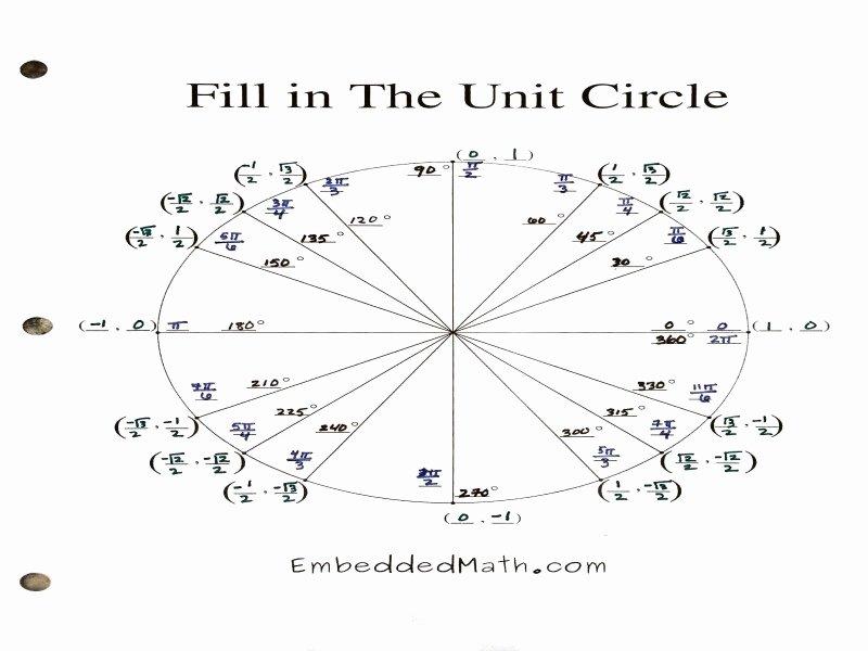 Trigonometry Unit Circle Worksheet Answers New Unit Circle Worksheet with Answers Free Printable Worksheets