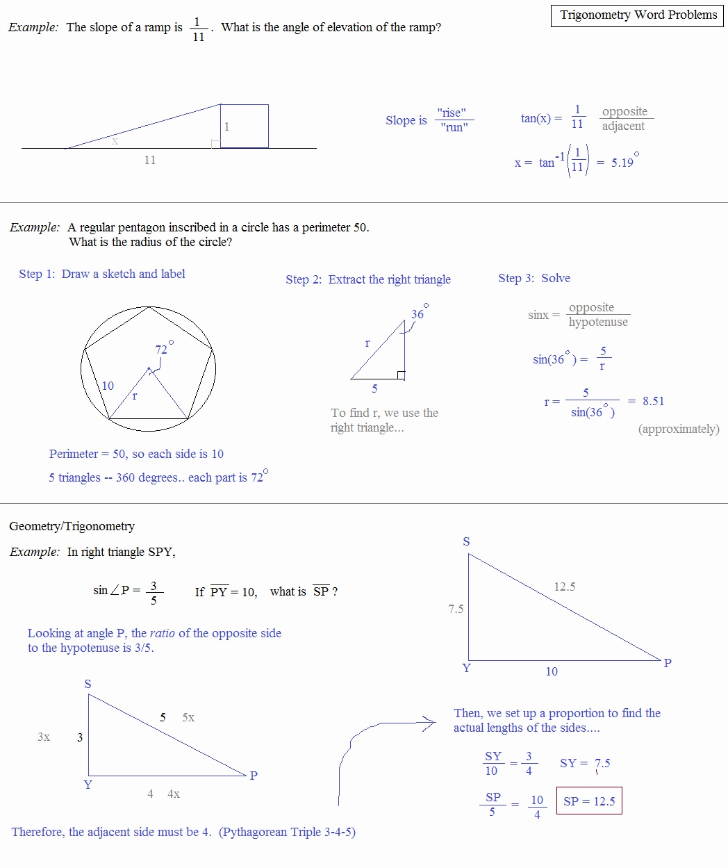 Trigonometry Word Problems Worksheet Answers Beautiful Math Plane Trigonometry Word Problems