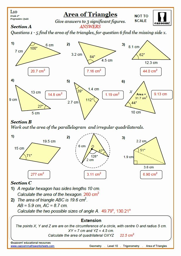 Trigonometry Word Problems Worksheet Answers Beautiful Trigonometry Worksheets with Answers