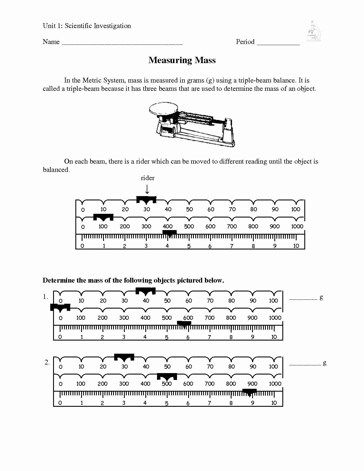 Triple Beam Balance Practice Worksheet Awesome Ph Worksheet Middle School