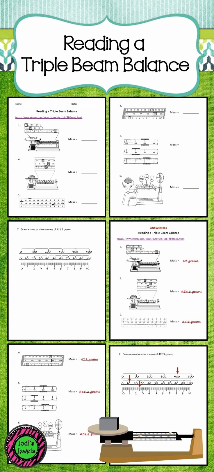 Triple Beam Balance Practice Worksheet Awesome Reading Triple Beam Balance Practice Worksheets