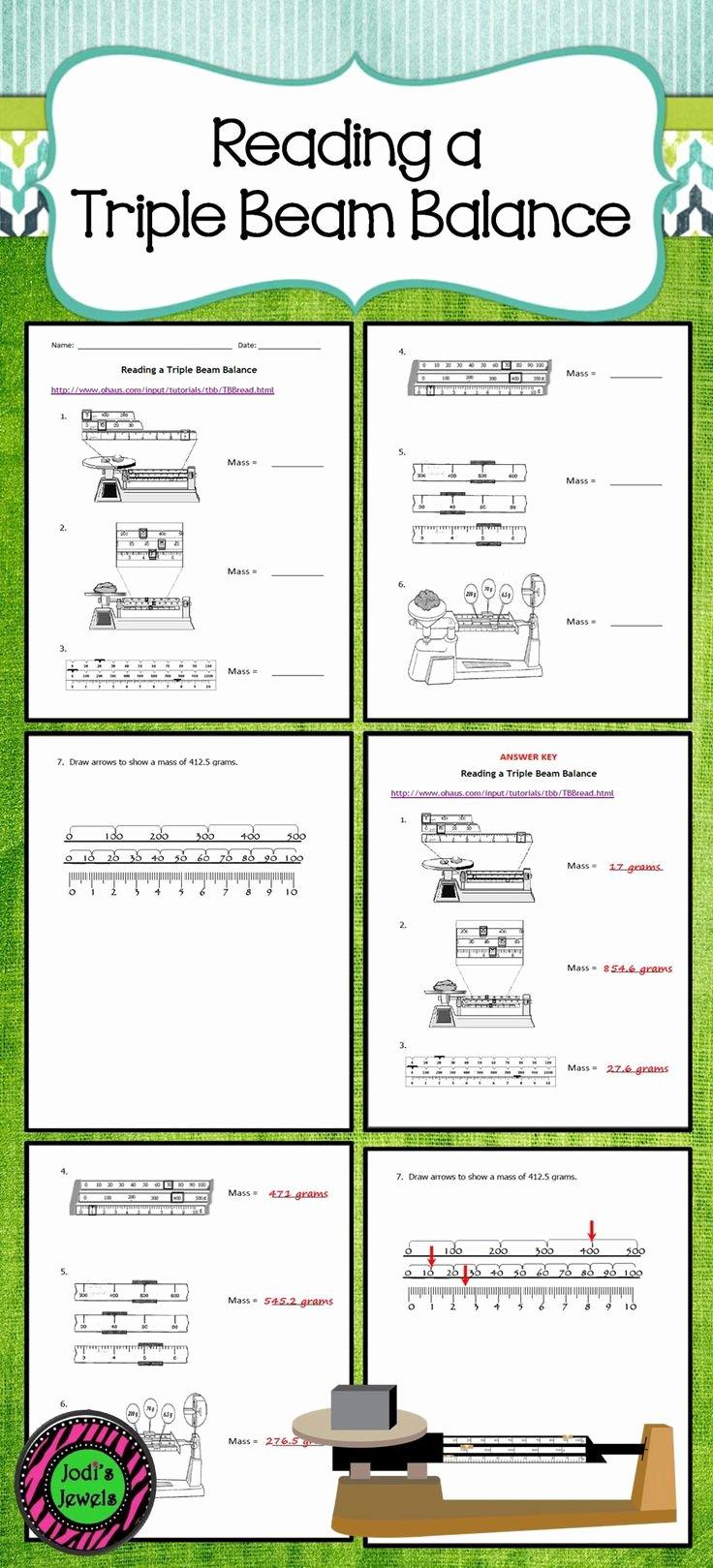 Triple Beam Balance Practice Worksheet Awesome Reading Triple Beam Balance Practice Worksheets