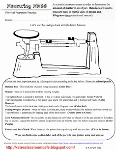 Triple Beam Balance Practice Worksheet Best Of Triple Beam Balance Worksheet Lesson Plan