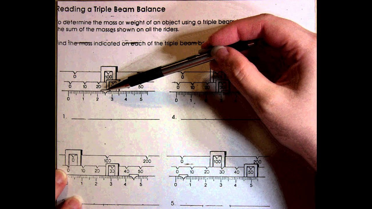 Triple Beam Balance Practice Worksheet Elegant Reading A Triple Beam Balance