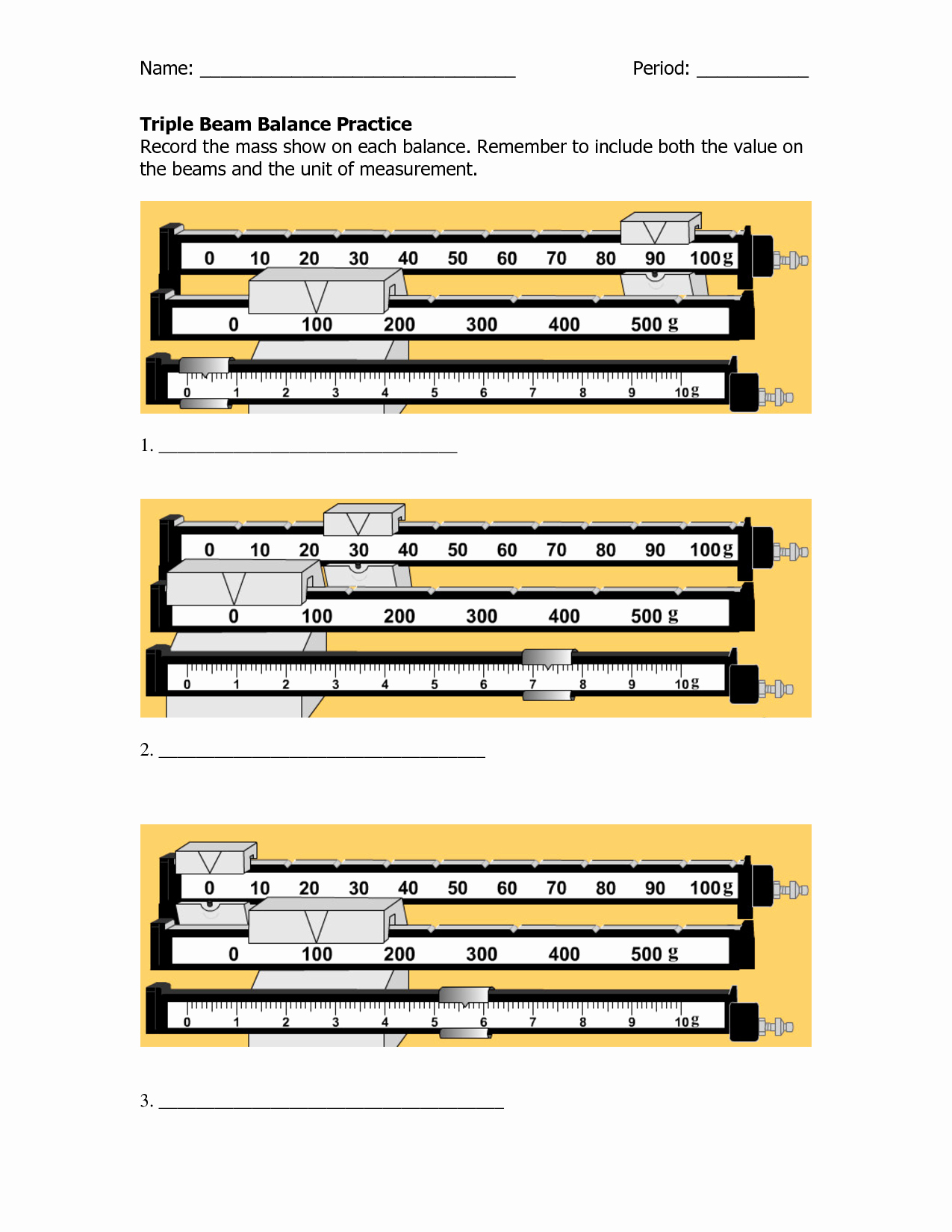 Triple Beam Balance Practice Worksheet Fresh Reading A Triple Beam Balance Practice Worksheets