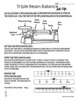 Triple Beam Balance Practice Worksheet Luxury Triple Beam Balance Practice and Candy Lab by A Middle