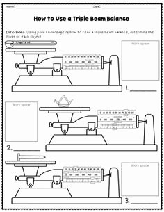 Triple Beam Balance Worksheet Beautiful Science Basics Reading A Triple Beam Balance Worksheet