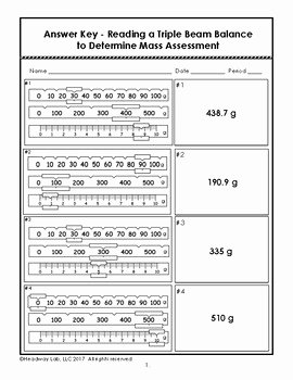 Triple Beam Balance Worksheet Fresh Reading Triple Beam Balance Practice Worksheet Bluegreenish