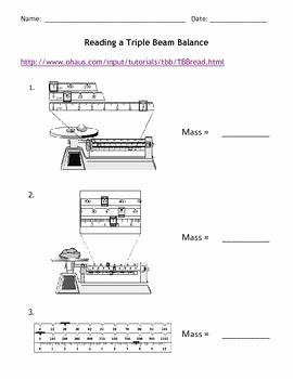 Triple Beam Balance Worksheet Inspirational Reading A Triple Beam Balance Education