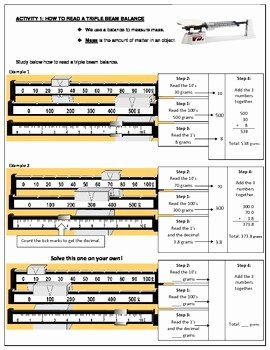 Triple Beam Balance Worksheet Luxury How to Use A Triple Beam Balance by Science Maniac