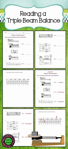 Triple Beam Balance Worksheet Luxury Science Basics Reading A Triple Beam Balance Worksheet