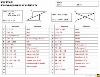 Two Column Proof Worksheet Beautiful Cpctc Proofs Two Column Proof Practice and Quiz by Math
