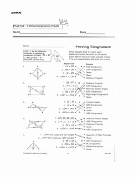 Two Column Proof Worksheet Beautiful Geometry Unit 8 Congruent Triangles 2 Column Proofs Sss