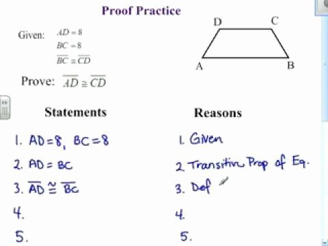 Two Column Proof Worksheet Beautiful Proof Practice 1