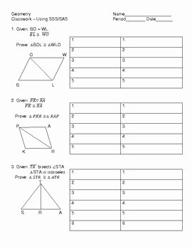 Two Column Proof Worksheet Beautiful Proving Triangles Congruent Using Sss Sas Worksheet by Kim