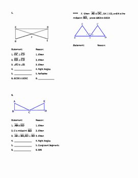 Two Column Proof Worksheet Inspirational Geometry Unit 8 Congruent Triangles 2 Column Proofs Sss