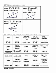 Two Column Proof Worksheet Luxury Congruent Triangles Proofs Two Column Proof Practice and
