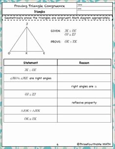 Two Column Proof Worksheet New Congruent Triangles Proofs Two Column Proof Practice and