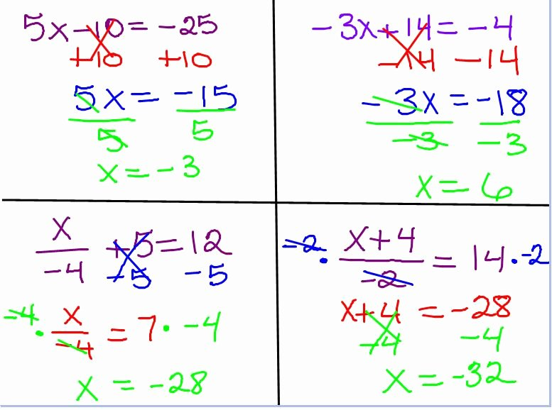 Two Step Equations Worksheet Answers Fresh Mrs Swickey S Class Blog September 2011