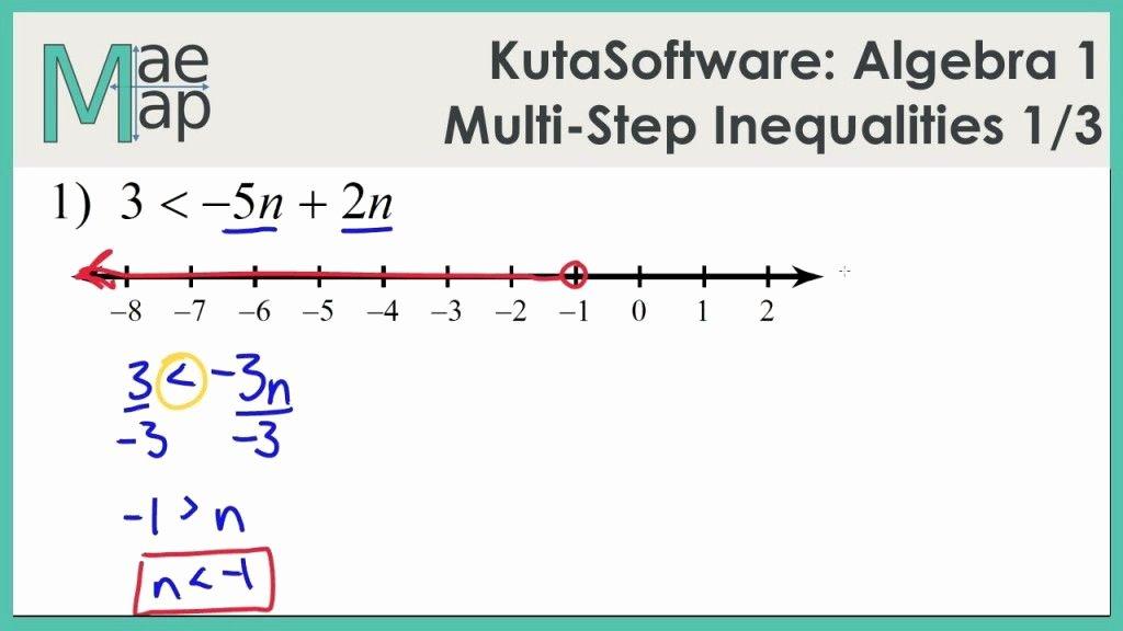 Two Step Inequalities Worksheet Beautiful Algebra 1 Inequalities Worksheet
