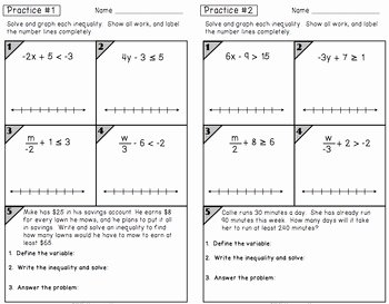 Two Step Inequalities Worksheet Best Of Inequalities Two Step Partner Practice Reflection