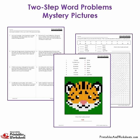Two Step Word Problems Worksheet Awesome 3rd Grade Two Step Word Problems Mystery Coloring