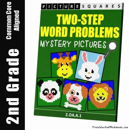 Two Step Word Problems Worksheet Beautiful 2nd Grade Two Step Word Problems Mystery Coloring