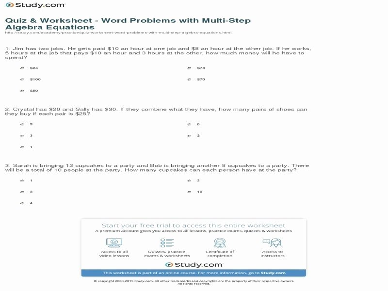 Two Step Word Problems Worksheet Lovely Two Step Word Problems Worksheet Free Printable Worksheets