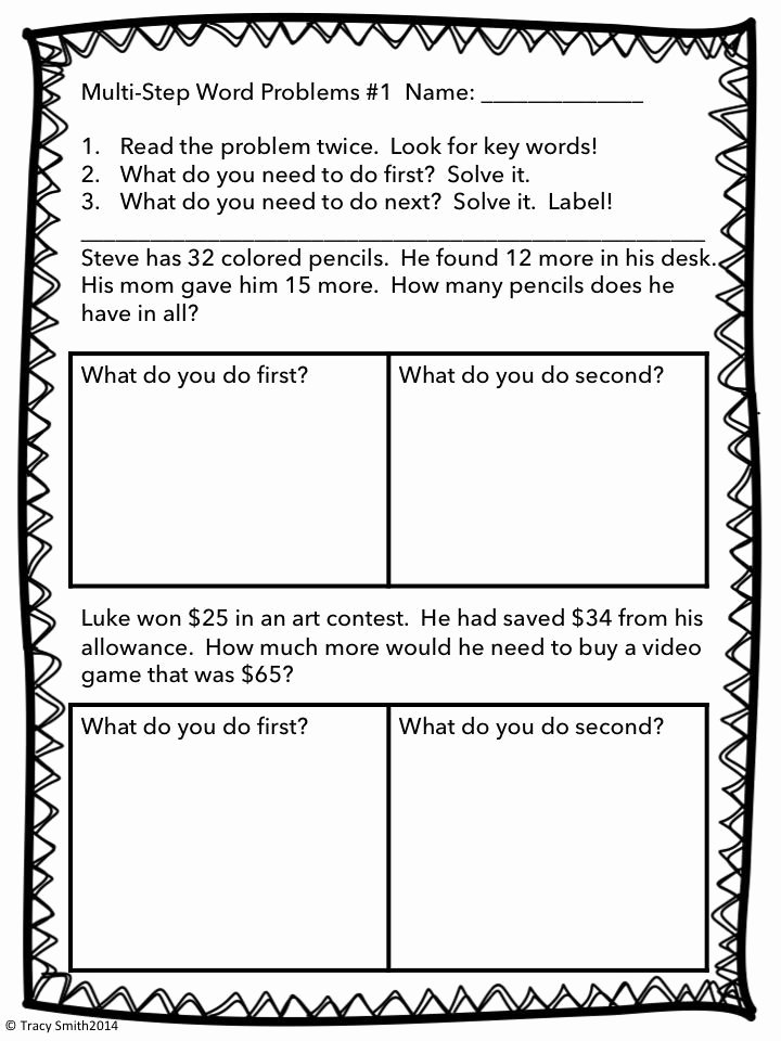 Two Step Word Problems Worksheet Luxury Multi Step Word Problems Adding and Subtracting to 100
